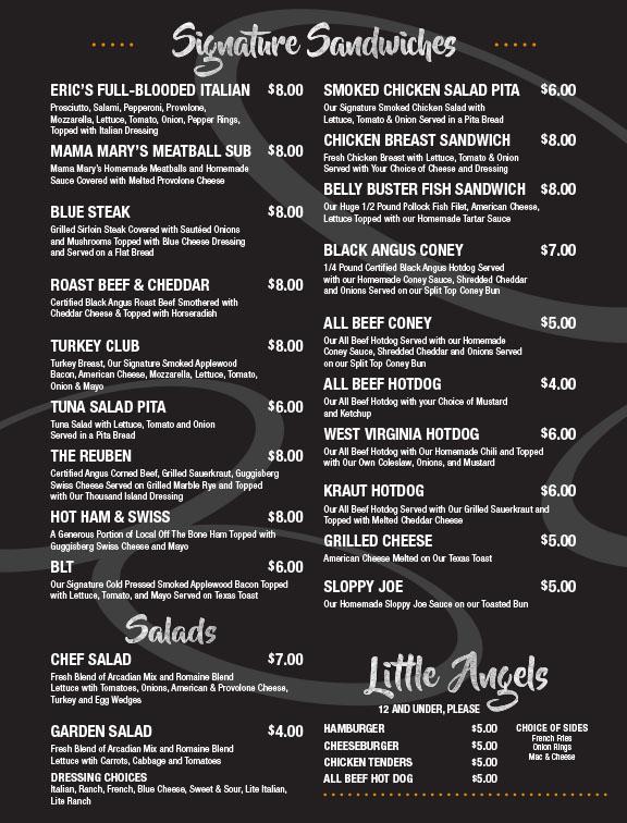 Holmes County Flea Market restaurant menu