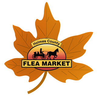 fall decor at holmes county flea market, amish country ohio antiques